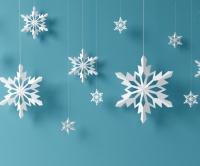 Sněhové vločky vánoční vystřihovánky