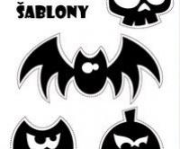 Halloween šablony k vytištění