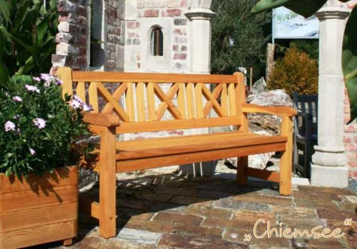 dřevěná lavice, modřínolá lavice zahradní nábytek