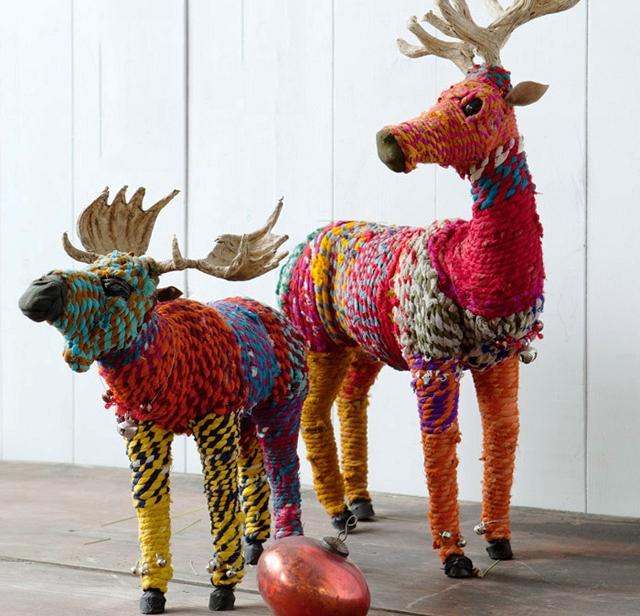 soška jelena, látkový jelen, látkový sob, kýč jak bič, vánoční sob, jelení farma