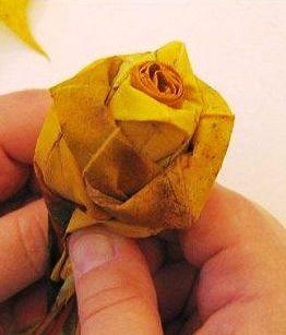 podzimní kytice, kytice dušičky, kytka na hrob, sušené listí, kytice z listí, tvpoříme s dětmi