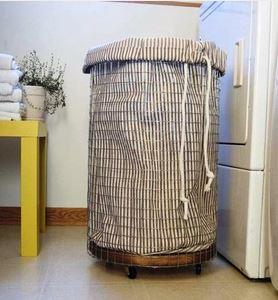 ... látkový koš, prádlový koš, tvoříme ze dřeva, praktická žena