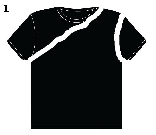 8c3475392983 Recyklace starého trička na šmrncovní top - šití bez šití