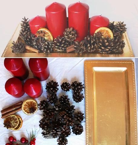 adventní věnec, adventní svícen, jak vyrobit adventví věnec, jak vyrobit svícen, advent