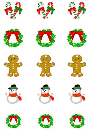Vanoční obrázky vánoční ozdovy vánoční vystřihovánky