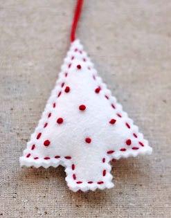 Filc vánoční ozdoby filcový stromeček vánoční věnec